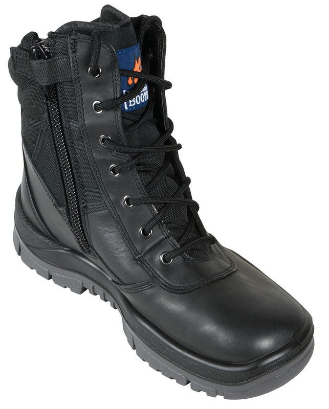Mongrel 251020 High Leg Black Zip Sider