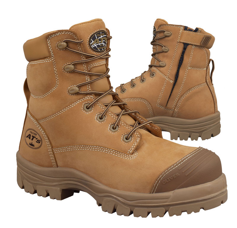 Oliver 45632Z 150mm 6andquot Wheat Zip Sided Boot