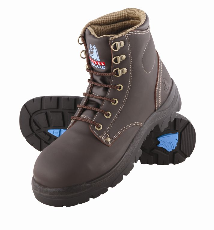 Steel Blue Argyle Lace up Safety Boot