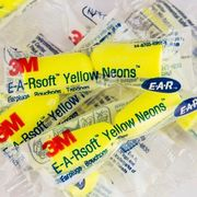 3M EARsoft Yellow Neons Uncorded Earplugs Poly Bag 3121250